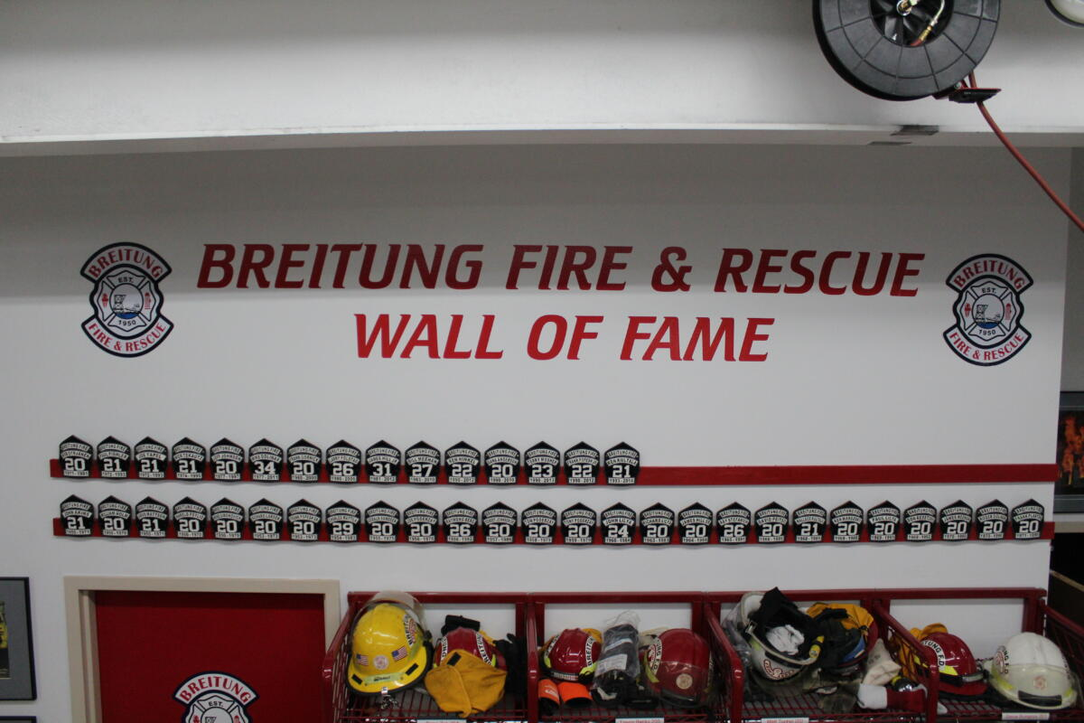 Breitung Retirement Wall of Fame